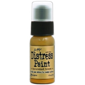 Ranger Tim Holtz Distress Paint: Metallic, Tarnished Brass