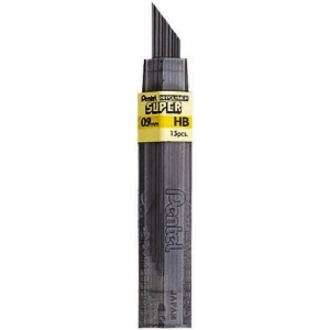 Pentel® Super Hi-Polymer® Super Lead .9mm 2H: 2H, Black/Gray, .7mm, Lead, (model 50-9-2H/BX), price per box