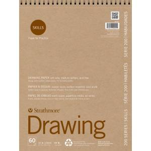 Strathmore® 200 Series Skills Wire Bound Drawing Pad