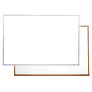 "Ghent® Acrylate White Markerboard 24"" x 36"" Aluminum Frame: 24"" x 36"", Dry Erase, (model M2-23-0), price per each"