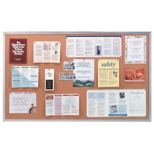 Ghent® Aluminum Frame Traditional Cork Bulletin Board 4' x 4': 4' x 4', Cork Board, (model AK44), price per each