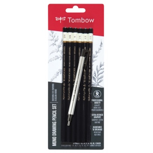 Tombow® Mono® Drawing Pencils 6 Piece Set: Black/Gray, Pencil, Drawing, (model 61002), price per set