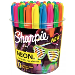 Sharpie Neon Permanent Marker 36-Piece Display