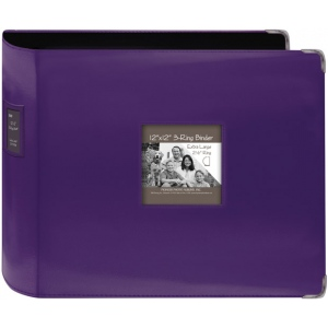 "Pioneer® 12"" x 12"" XL D-Ring Leatherette Scrapbook Binder Dark Purple: Purple, Leatherette, 12"" x 12"", (model T12JF/CPR), price per each"
