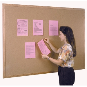 Ghent® Wood Frame Traditional Cork Bulletin Board 3' x 5': 3' x 5', Cork Board, (model WK35), price per each
