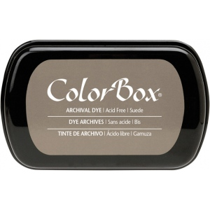ColorBox® Full Size Archival Dye Ink Pad Sude: Brown, Pad, Dye-Based, Full Size Rectangle, (model CS27031), price per each
