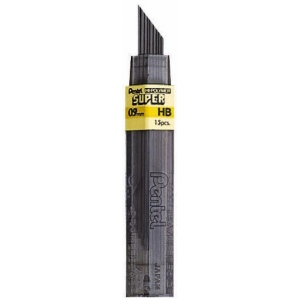 Pentel® Super Hi-Polymer® Super Lead .9mm HB: HB, Black/Gray, .7mm, Lead, (model 50-9-HB/BX), price per box