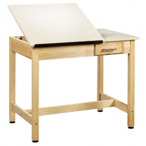 "Shain 30""h Two-Piece Drawing Table with Small Drawer"
