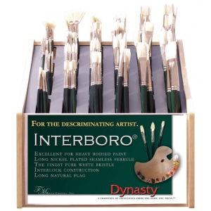 Dynasty® Interboro® Bristle Oil and Acrylic Brush Display Assortment