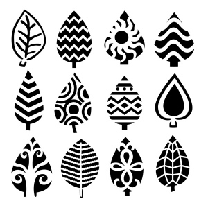 "The Crafter's Workshop 6"" x 6"" Design Template Abstract Leaves: 6"" x 6"", Patterned Stencil, (model TCW395S), price per each"