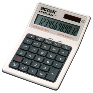Victor TuffCalc Water and Shock Resistant Calculator