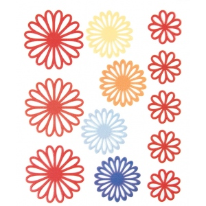 "Blue Hills Studio™ ColorStories™ Gel Outline Daisy Stickers Red: Red/Pink, Gel, 4 3/4"" x 5 3/4"", Dimensional, (model BHS10108), price per each"
