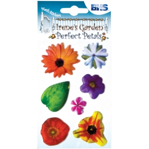 "Blue Hills Studio™ Irene's Garden™ Perfect Petals Stickers Mix B: Multi, 3 1/8"" x 4 3/4"", Dimensional, (model BHS008), price per each"