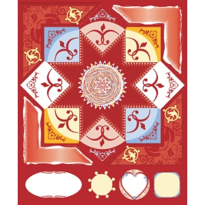 "Blue Hills Studio™ ColorStories™ Cardstock Stickers Red: Red/Pink, Cardstock, 4 3/4"" x 5 3/4"", Flat, (model BHS10114), price per each"