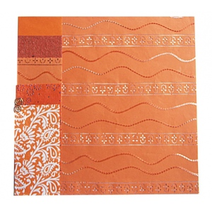 "Blue Hills Studio™ Treasure Chest™ 12 x 12 Paper Collection Fire Opal: Orange, 12"" x 12"", (model BHS102), price per pack"