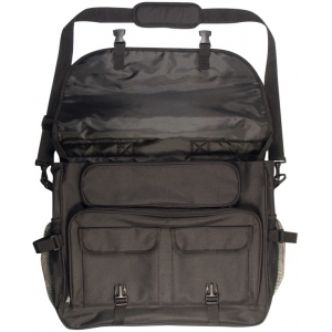 Heritage Arts™ Deluxe Traveler Messenger Bag Black: Black/Gray, Tote Bag, (model DLXPACK-A), price per each