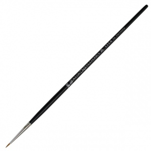 Dynasty® Faux Kolinski Round Brush Size 2/0: Long Handle, Synthetic, Round, Acrylic, (model FM36951), price per each