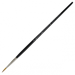 Dynasty® Faux Kolinski Round Brush Size 2: Long Handle, Synthetic, Round, Acrylic, (model FM36954), price per each