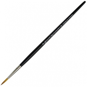 Dynasty® Faux Kolinski Round Brush Size 4: Long Handle, Synthetic, Round, Acrylic, (model FM36956), price per each