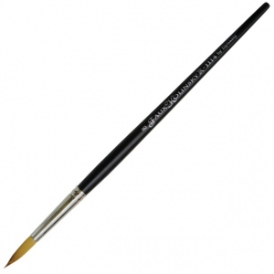 Dynasty® Faux Kolinski Round Brush Size 8: Long Handle, Synthetic, Round, Acrylic, (model FM36960), price per each