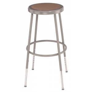 "National Public Seating Corp. 6200 Series Heavy-Duty Steel Stool: Basic, Adjustable, 25""-32 1/2"""