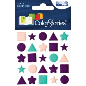 "Blue Hills Studio™ ColorStories™ Puffy Mesh Stickers Purple: Purple, Mesh, 3 1/4"" x 3 1/4"", Dimensional, (model BHS10513), price per each"