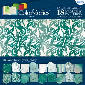 "Blue Hills Studio™ ColorStories™ 12 x 12 Paper Pack Green: Green, 12"" x 12"", 45 lb, (model BHS10301), price per pack"