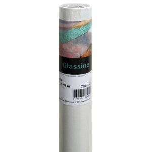 "Canson® Foundation Series 48"" x 20yd Glassine Roll: White/Ivory, Roll, 48"" x 20 yd, (model C100510833), price per roll"