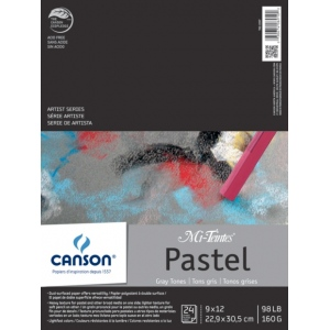 Canson® Mi-Teintes® Artist Series Fold Over Bound Pad Assorted Gray