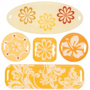 "Blue Hills Studio™ ColorStories™ 3D Charms Yellow: Yellow, Epoxy, 3 1/4"" x 3 1/4"", Dimensional, (model BHS10204), price per each"