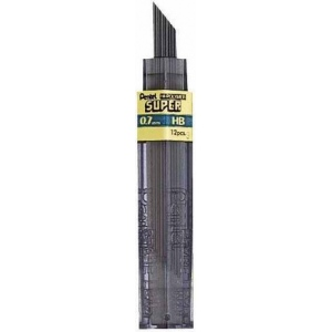 Pentel® Super Hi-Polymer® Super Lead .7mm 3H: 3H, Black/Gray, .7mm, 12-Pack, Lead, (model 50-7-3H/BX), price per 12-Pack box