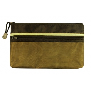 "Alvin® 5"" x 9"" Dual Zippered Pocket Fabric Mesh Bag: Green, Mesh, 5"" x 9"", Mesh Bag, (model EBDZ59), price per each"