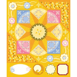 "Blue Hills Studio™ ColorStories™ Cardstock Stickers Yellow: Yellow, Cardstock, 4 3/4"" x 5 3/4"", Flat, (model BHS10214), price per each"