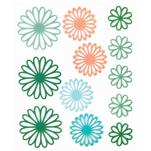"Blue Hills Studio™ ColorStories™ Gel Outline Daisy Stickers Green: Green, Gel, 4 3/4"" x 5 3/4"", Dimensional, (model BHS10308), price per each"