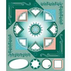 "Blue Hills Studio™ ColorStories™ Cardstock Stickers Green: Green, Cardstock, 4 3/4"" x 5 3/4"", Flat, (model BHS10314), price per each"