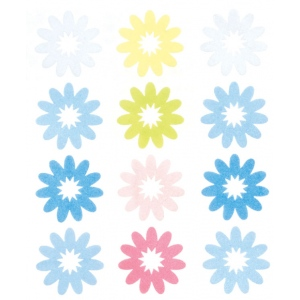 "Blue Hills Studio™ ColorStories™ Flocked Daisy Stickers Blue: Blue, Flock, 4 3/4"" x 5 3/4"", Flat, (model BHS10406), price per each"