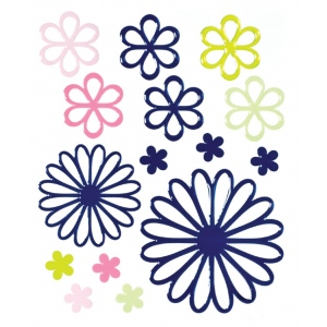 "Blue Hills Studio™ ColorStories™ Glossy Embossed Daisy Stickers Blue: Blue, Gel, 4 3/4"" x 5 3/4"", Dimensional, (model BHS10411), price per each"