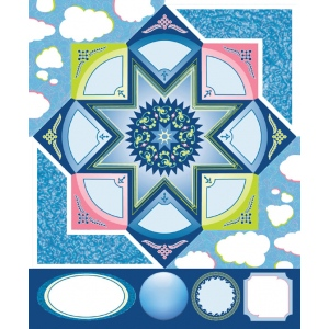 "Blue Hills Studio™ ColorStories™ Cardstock Stickers Blue: Blue, Cardstock, 4 3/4"" x 5 3/4"", Flat, (model BHS10414), price per each"