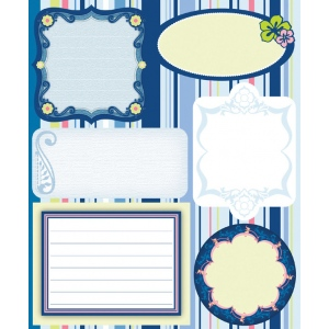 "Blue Hills Studio™ ColorStories™ Embossed Cardstock Stickers Blue: Blue, Cardstock, 4 3/4"" x 5 3/4"", Flat, (model BHS10415), price per each"