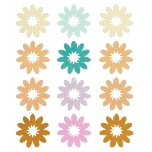 "Blue Hills Studio™ ColorStories™ Flocked Daisy Stickers Brown: Brown, Flock, 4 3/4"" x 5 3/4"", Flat, (model BHS10606), price per each"