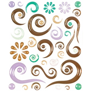 "Blue Hills Studio™ ColorStories™ Epoxy Swirl Stickers Brown: Brown, Epoxy, 4 3/4"" x 5 3/4"", Dimensional, (model BHS10607), price per each"