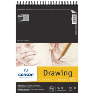 Canson® Classic™ Artist Series Drawing Pad (Top Wire)