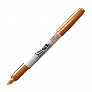 Sharpie® Fine Point Metallic Bronze Permanent Marker: Metallic, Fine Nib