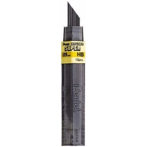 Pentel® Super Hi-Polymer® Super Lead .9mm H: H, Black/Gray, .7mm, Lead, (model 50-9-H/BX), price per box