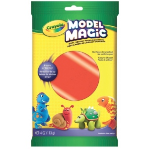 Crayola® Model Magic® Single Pack 4oz Red: Red/Pink, Clay, 4 oz, Modeling Clay, (model 57-0091), price per each