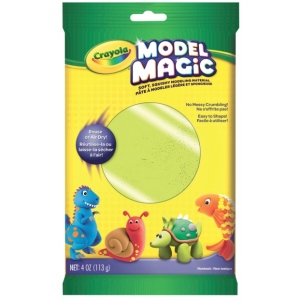 Crayola® Model Magic® 4oz Single Pack Neon Green: Green, Clay, 4 oz, Modeling Clay, (model 57-0095), price per each