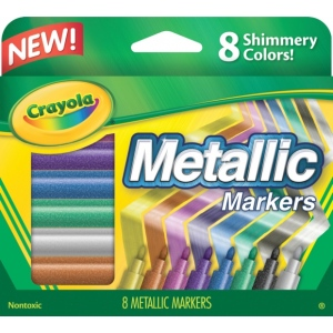 Crayola® Metallic Markers: Metallic, (model 58-8628), price per set
