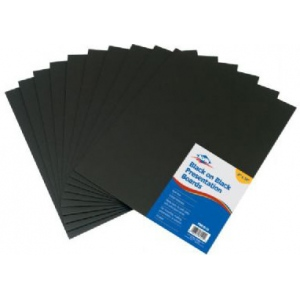 "8"" x 10"" (Retail Pack): Black/Gray, Sheet, 10 Sheets, 8"" x 10"", Presentation Board, (model PB810-10), price per 10 Sheets"