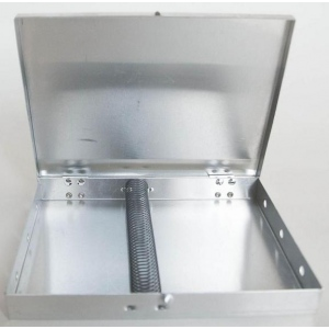 "Mack Metal Brush Box 5"" x 6.5"" with Spring"