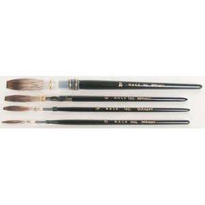 Mack Grey Pencil Quill Series 189L: #6, With Black Lacquered Handle